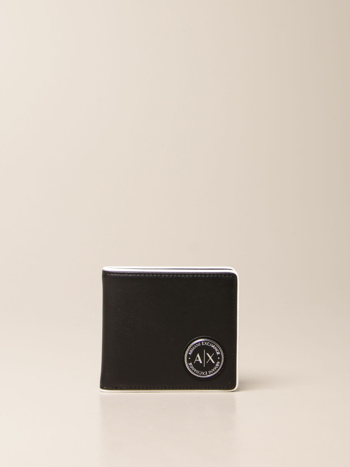 Wallet Armani Exchange: Armani Exchange wallet in leather with logo black 1