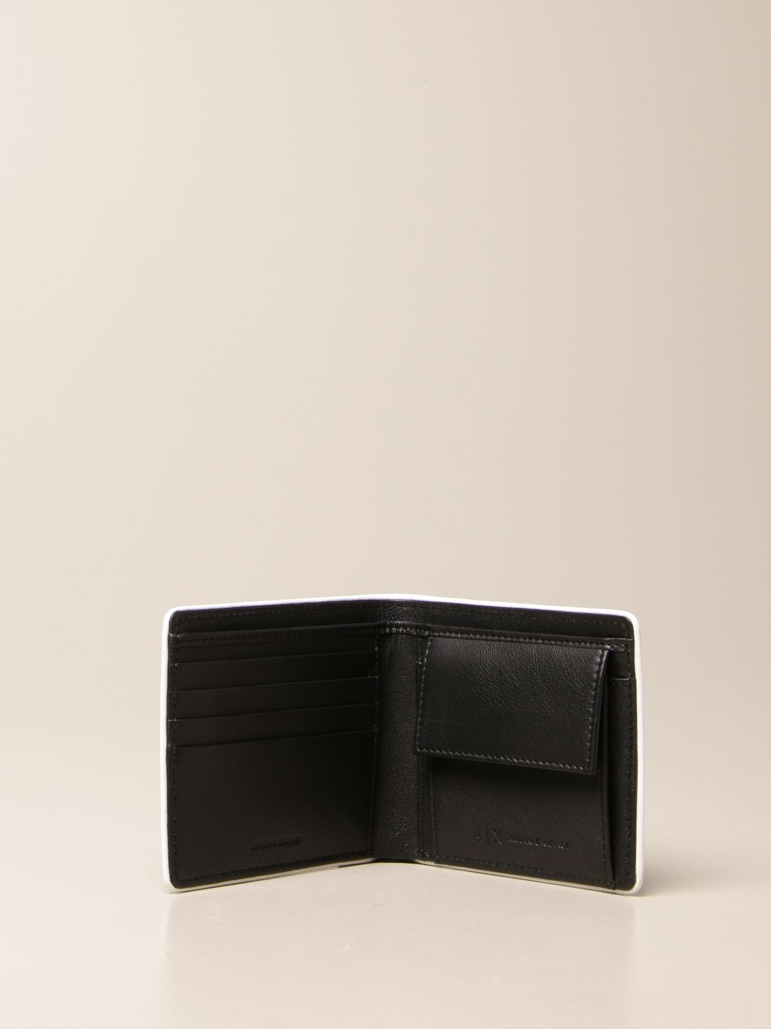 Wallet Armani Exchange: Armani Exchange wallet in leather with logo black 2