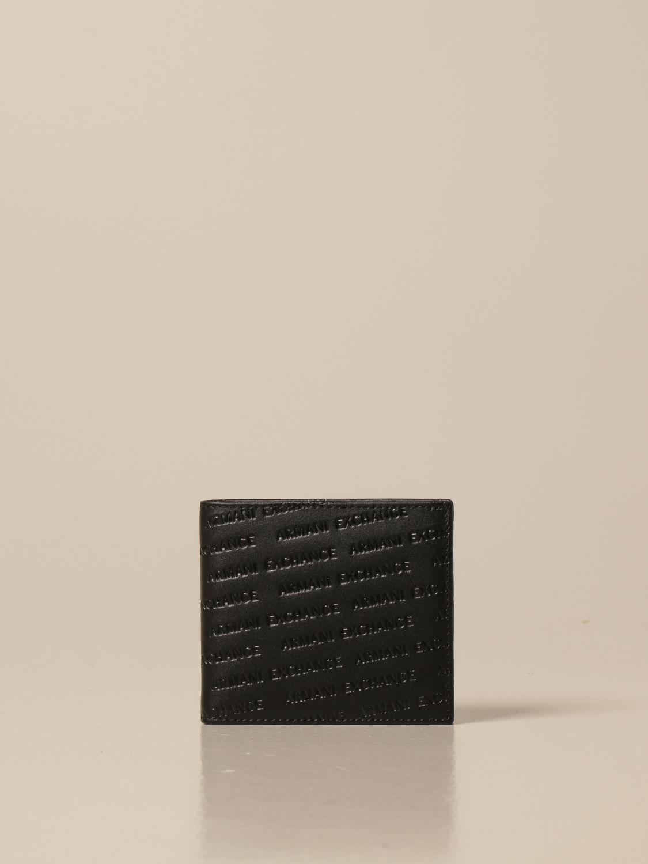 Wallet Armani Exchange: Credit card holder with all-over logo black 1