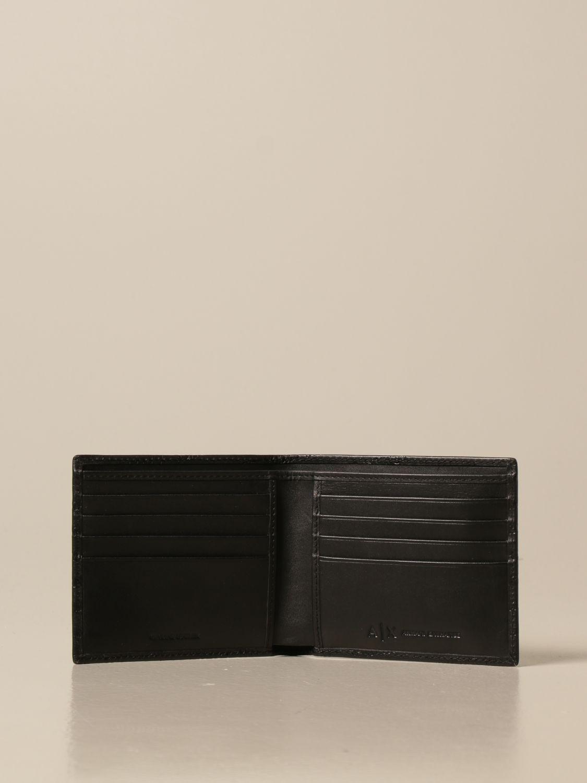 Wallet Armani Exchange: Credit card holder with all-over logo black 2