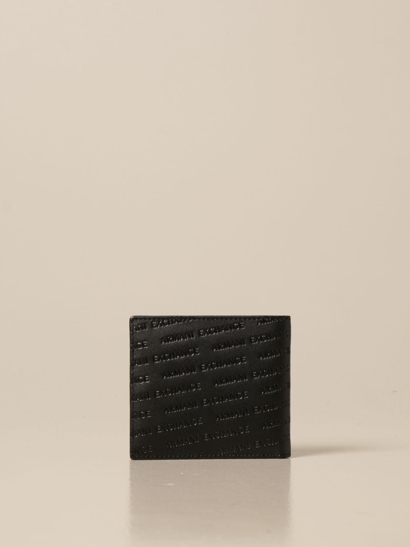 Wallet Armani Exchange: Credit card holder with all-over logo black 3