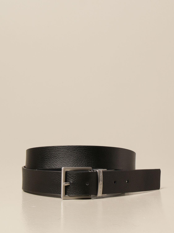 Cintura Armani Exchange: Cintura Armani Exchange in pelle reversibile nero 1
