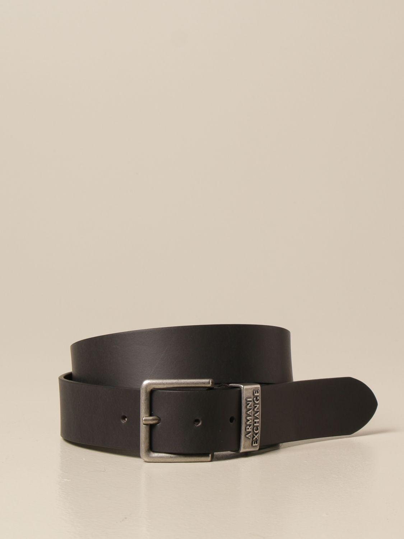 Cintura Armani Exchange: Cintura Armani Exchange in pelle nero 1