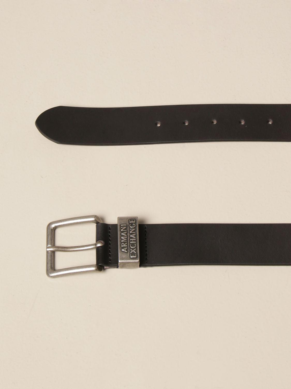 Cintura Armani Exchange: Cintura Armani Exchange in pelle nero 2