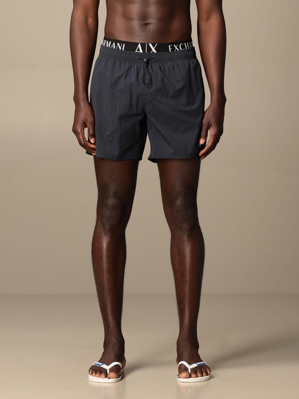 Swimsuit Armani Exchange: Armani Exchange boxer costume with logo blue 1