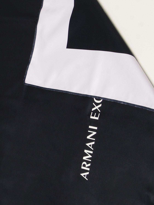 Serviette de plage Armani Exchange: Serviette de plage homme Armani Exchange bleu 2