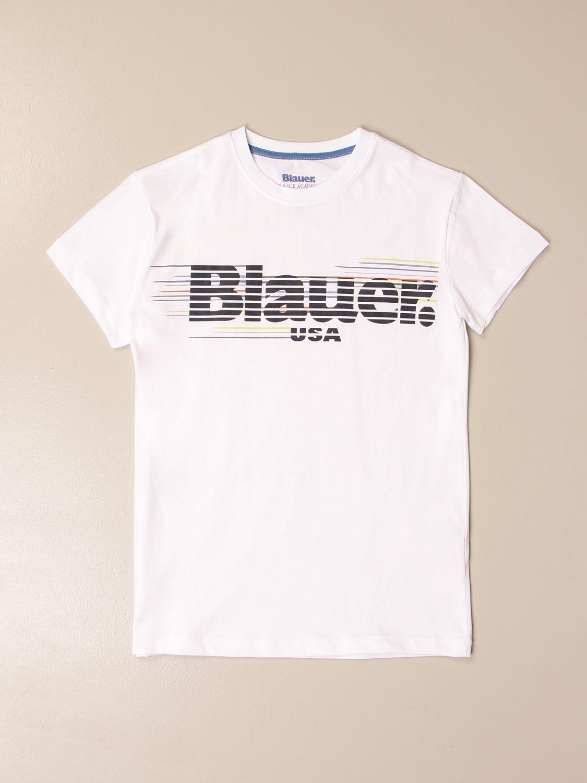 Camiseta Blauer: Camiseta niños Blauer blanco 1