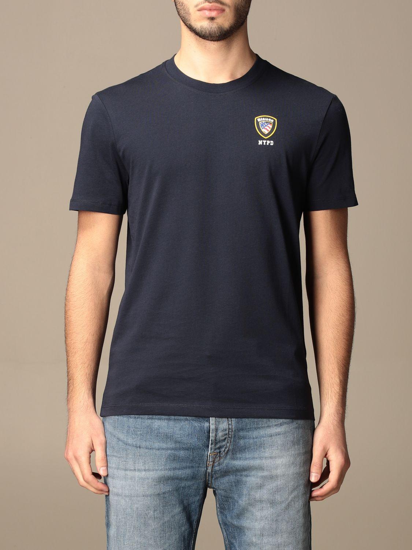 T-shirt Blauer: T-shirt Blauer in cotone basic con logo blue 1