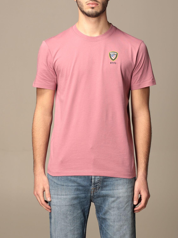 T-shirt Blauer: T-shirt homme Blauer rose 1