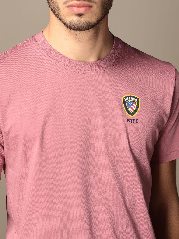 T-shirt Blauer: T-shirt homme Blauer rose 3