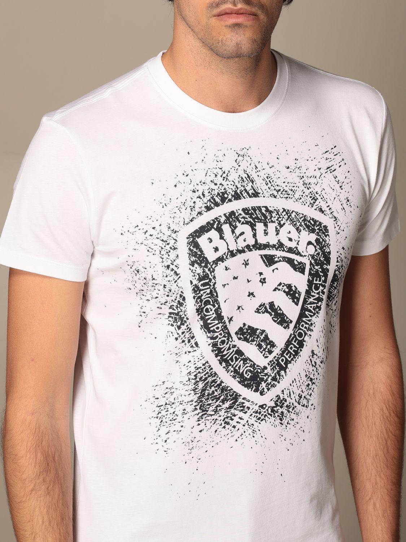 T-shirt Blauer: T-shirt men Blauer white 3