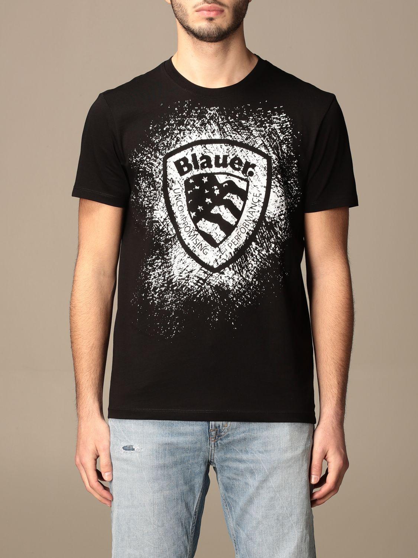 Camiseta Blauer: Camiseta hombre Blauer negro 1