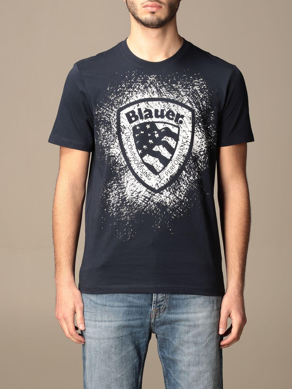 T恤 Blauer: T恤 男士 Blauer 蓝色 1