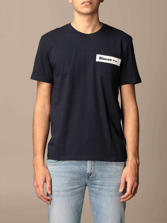 T-shirt Blauer: Blauer cotton t-shirt with print blue 1