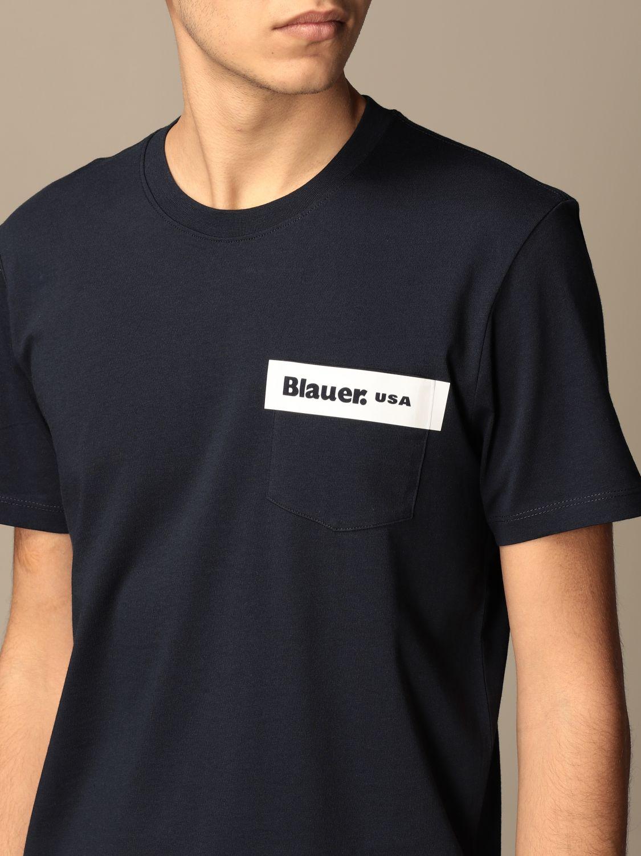 T-shirt Blauer: Blauer cotton t-shirt with print blue 3