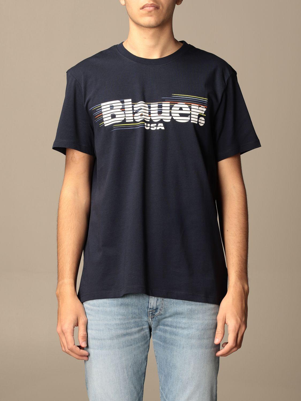 T-shirt Blauer: Blauer t-shirt in basic cotton with logo blue 1