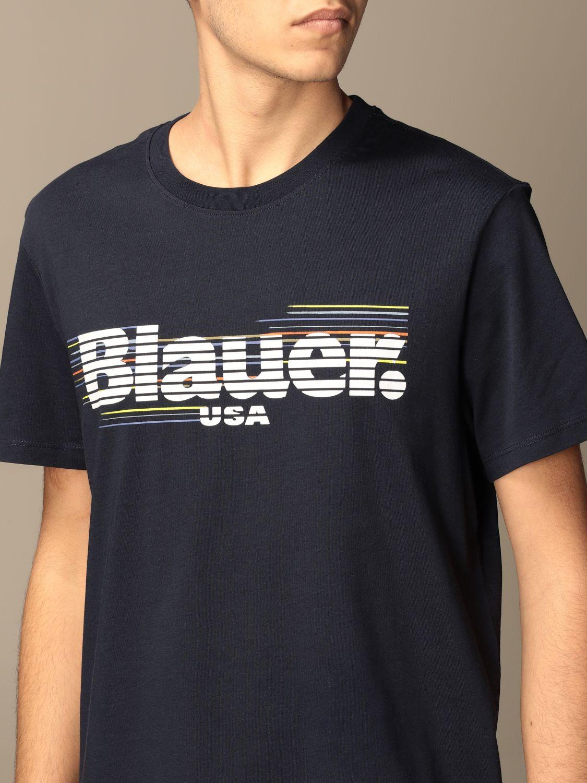 T-shirt Blauer: Blauer t-shirt in basic cotton with logo blue 3