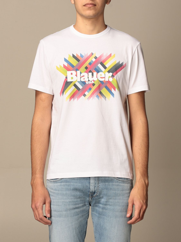T-shirt Blauer: T-shirt homme Blauer blanc 1