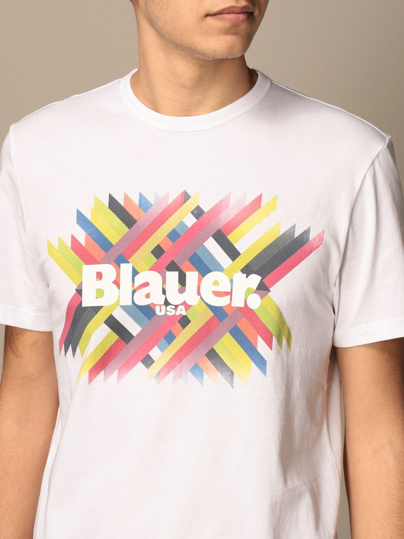T-shirt Blauer: T-shirt homme Blauer blanc 3