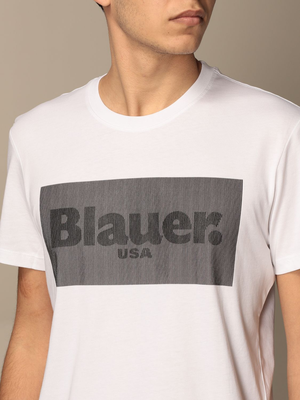 T-shirt Blauer: Blauer cotton t-shirt with logo white 3