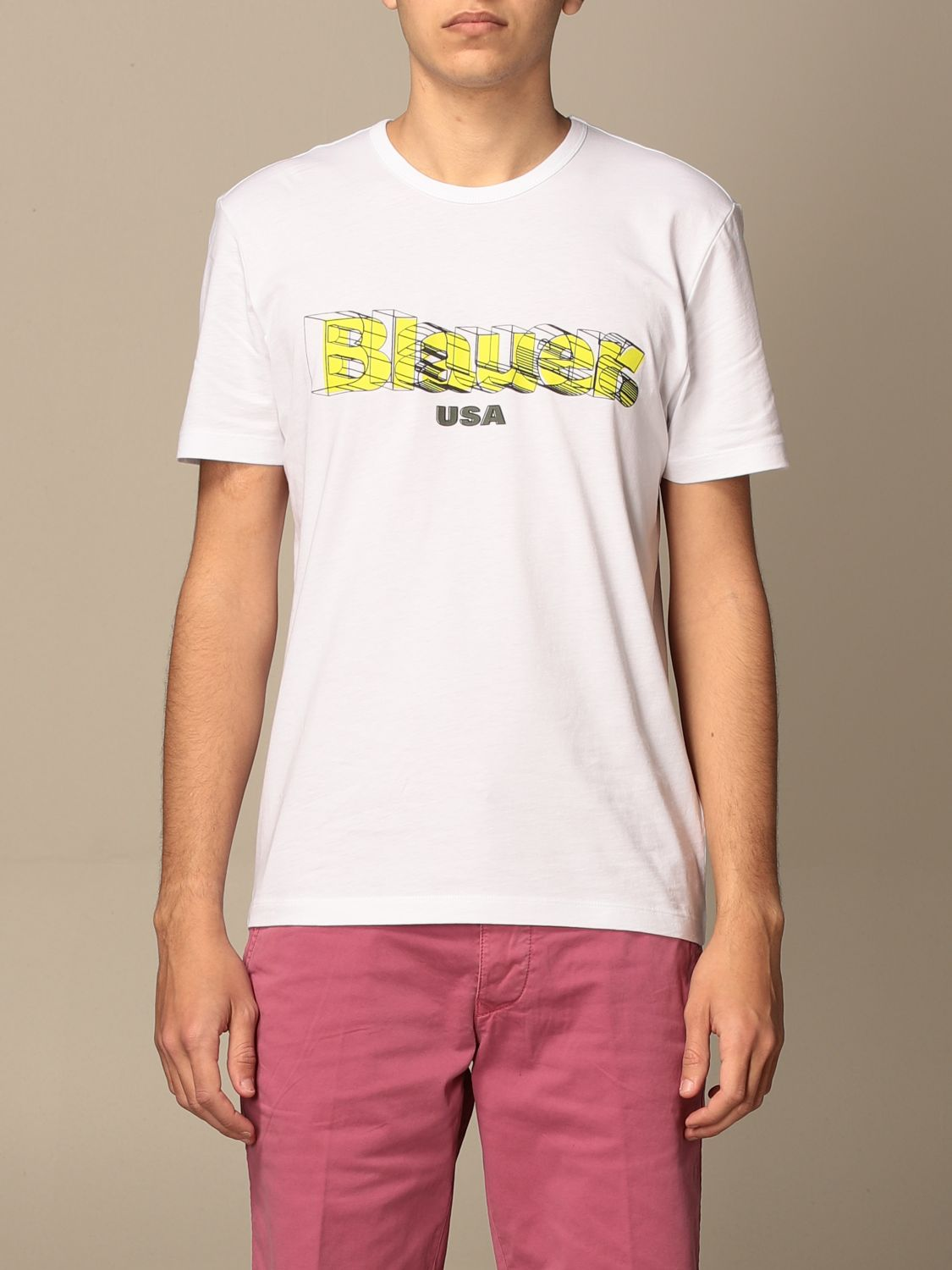 T-shirt Blauer: T-shirt men Blauer white 1