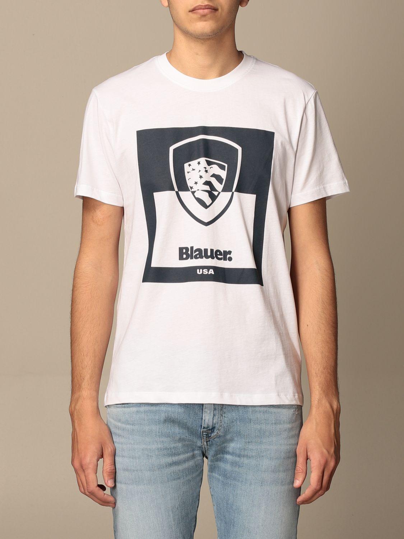 T-shirt Blauer: Blauer cotton t-shirt with print white 1