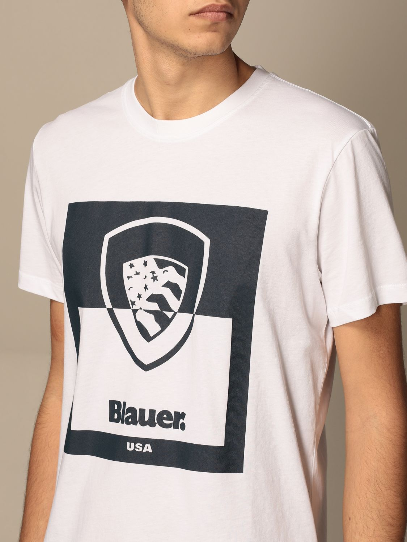 T-shirt Blauer: Blauer cotton t-shirt with print white 3