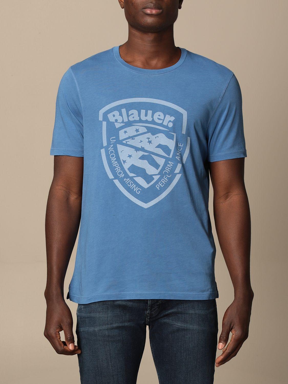 T-shirt Blauer: T-shirt homme Blauer bleu azur 1