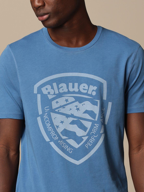 T-shirt Blauer: T-shirt homme Blauer bleu azur 3