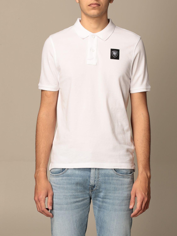 Polo Blauer: Polo Blauer in cotone con logo bianco 1