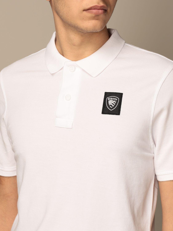 Polo Blauer: Polo Blauer in cotone con logo bianco 3