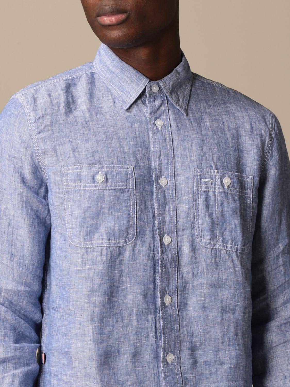 Shirt Blauer: Blauer linen shirt gnawed blue 3