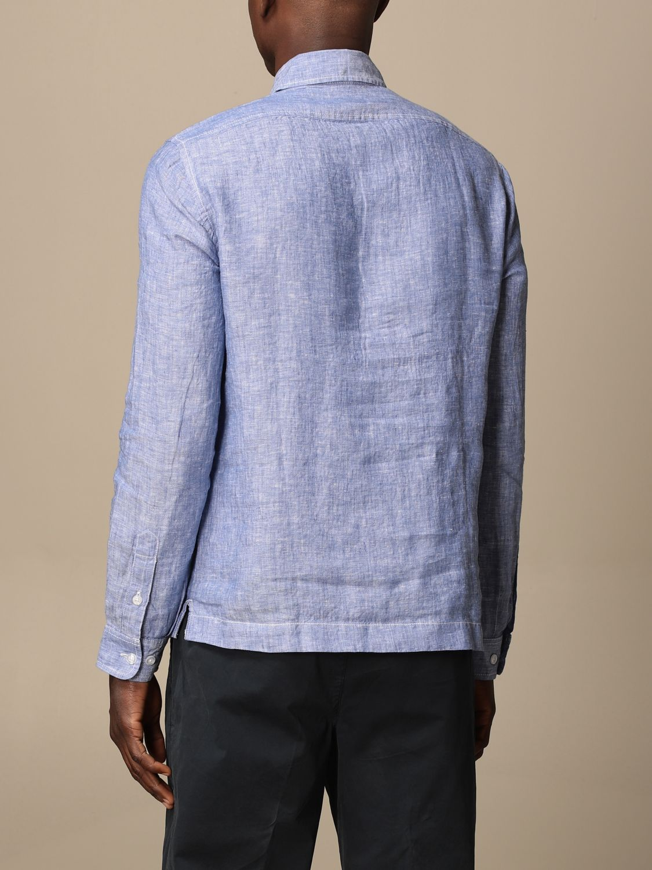Shirt Blauer: Blauer linen polo shirt gnawed blue 2