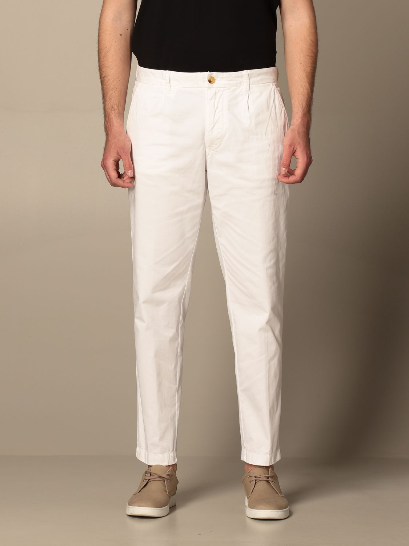 Pantalone Blauer: Pantalone chino Blauer in cotone bianco 1