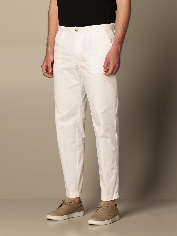 Pantalone Blauer: Pantalone chino Blauer in cotone bianco 3