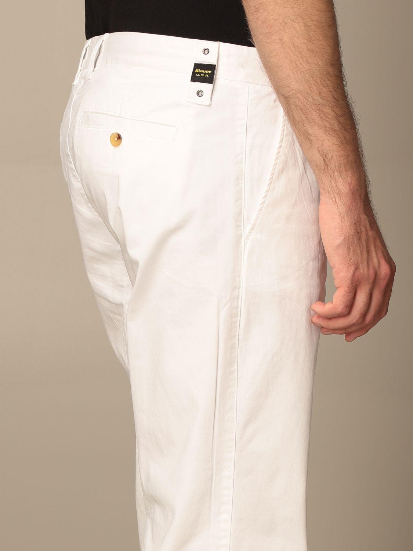 Pantalone Blauer: Pantalone chino Blauer in cotone bianco 4