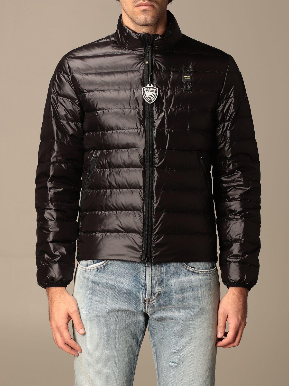 Jacket Blauer: Blauer down jacket in light basic nylon black 1
