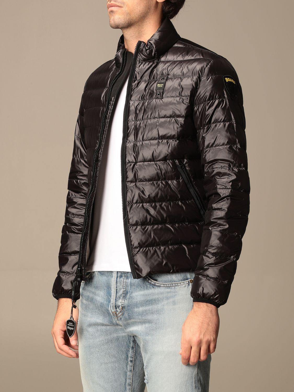 Jacket Blauer: Blauer down jacket in light basic nylon black 3