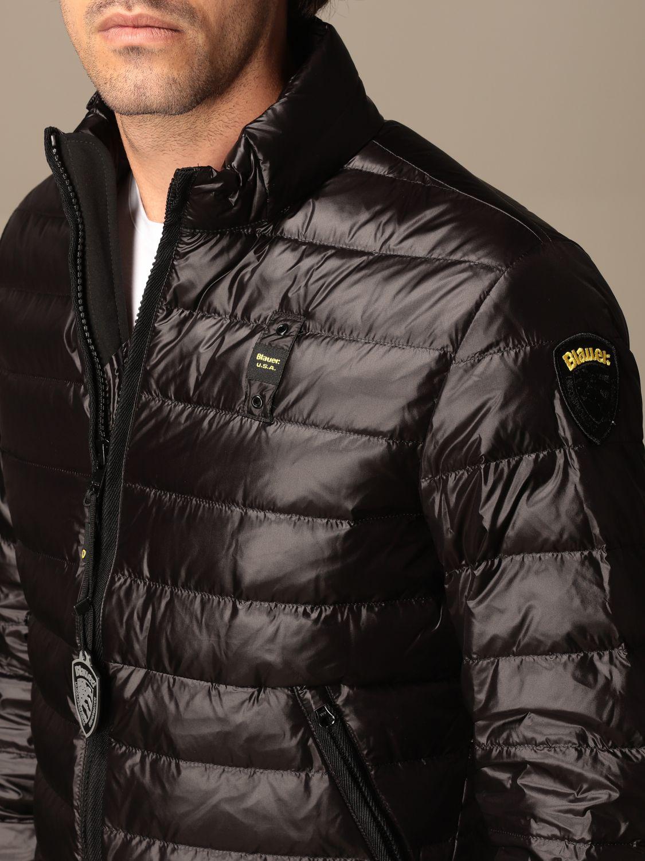 Jacket Blauer: Blauer down jacket in light basic nylon black 4
