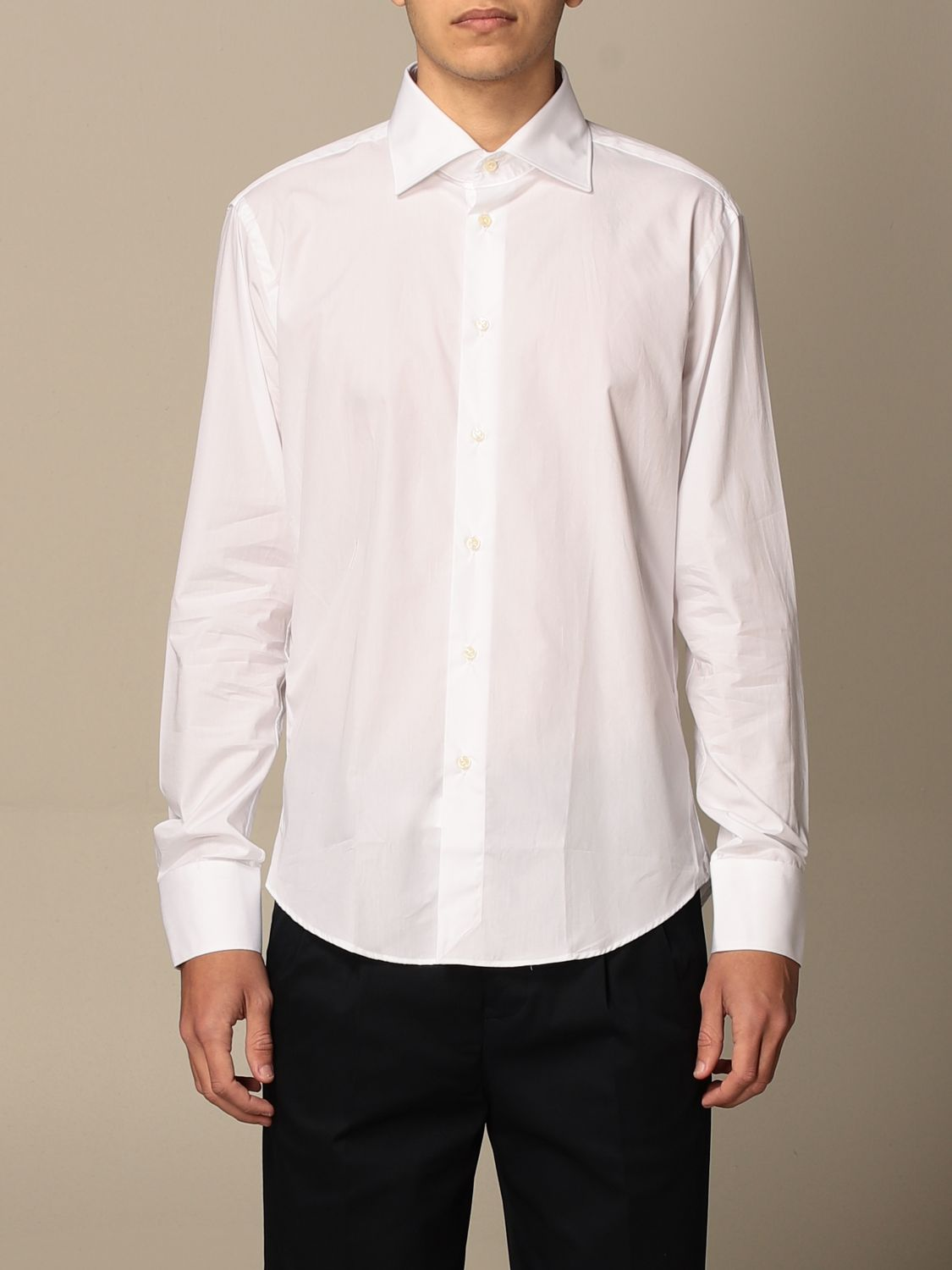 Shirt Brian Dales Camicie: Brian Dales Tailored Shirt Shirts with Italian collar in cotton white 1