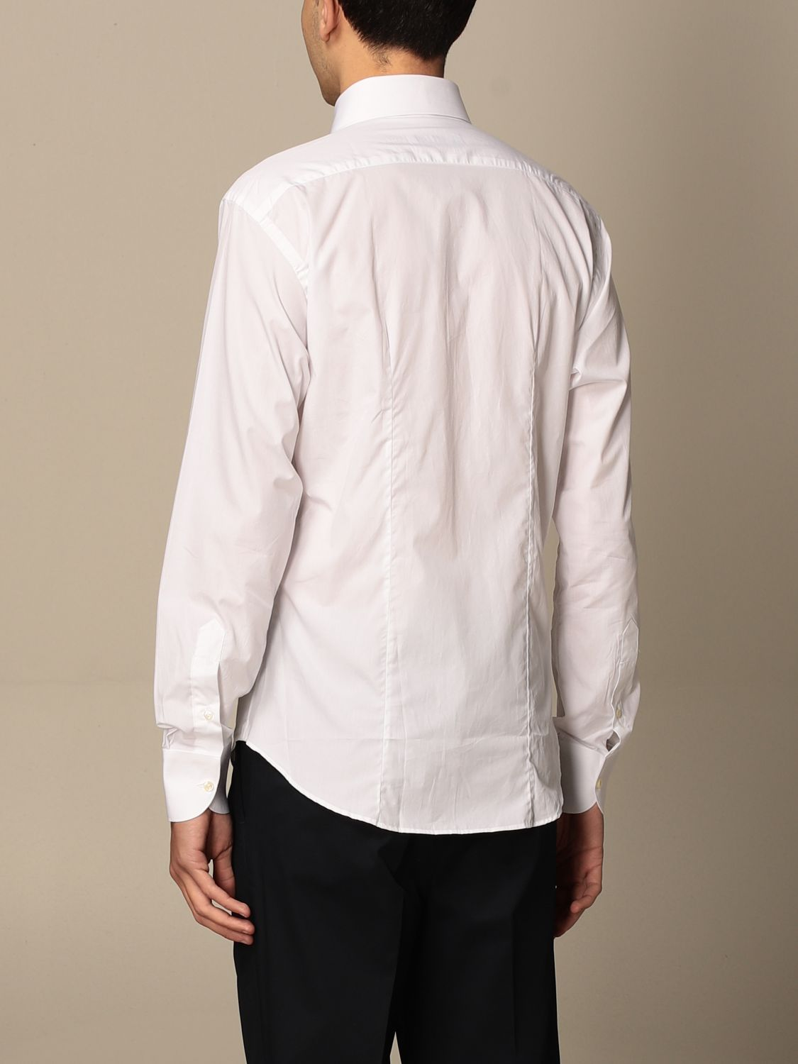 Shirt Brian Dales Camicie: Brian Dales Tailored Shirt Shirts with Italian collar in cotton white 2