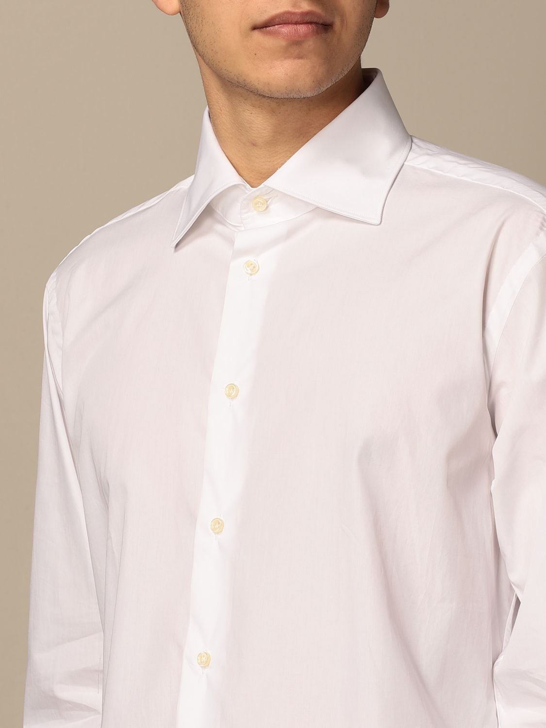 Shirt Brian Dales Camicie: Brian Dales Tailored Shirt Shirts with Italian collar in cotton white 3