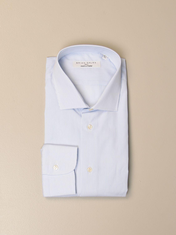 Camicia Brian Dales Camicie: Camicia Ozzero Brian Dales Camicie in cotone bacchettato celeste 1