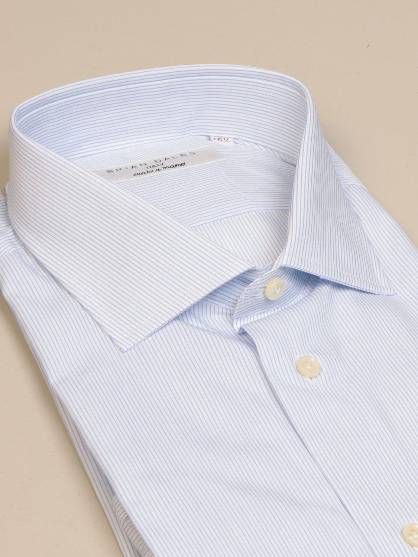 Camicia Brian Dales Camicie: Camicia Ozzero Brian Dales Camicie in cotone bacchettato celeste 2