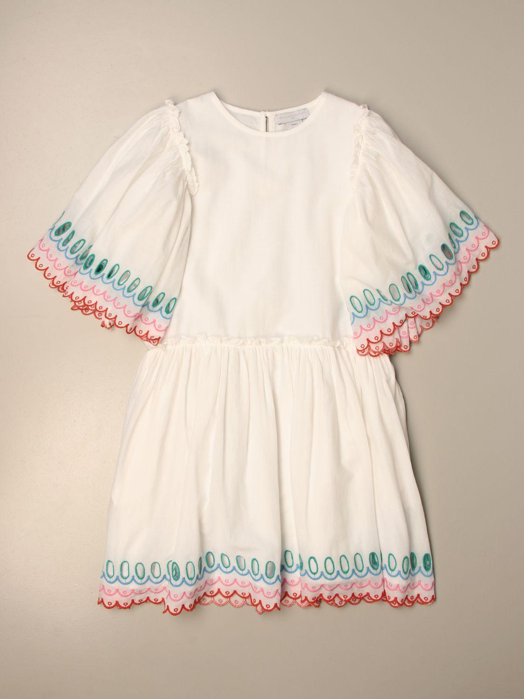 Dress Stella Mccartney: Stella McCartnery dress with embroidered profiles white 1