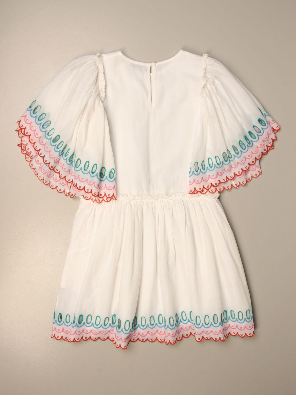 Dress Stella Mccartney: Stella McCartnery dress with embroidered profiles white 2
