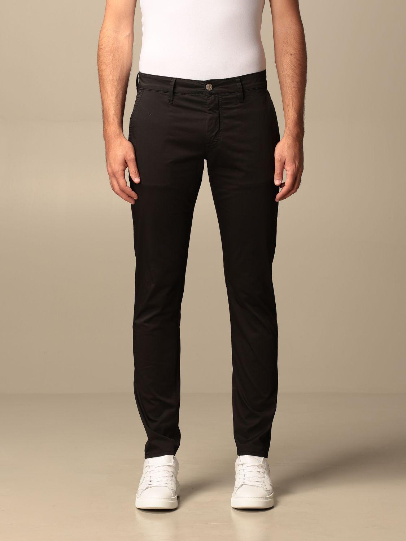 Pantalone Siviglia: Pantalone Chino Siviglia in cotone nero 1
