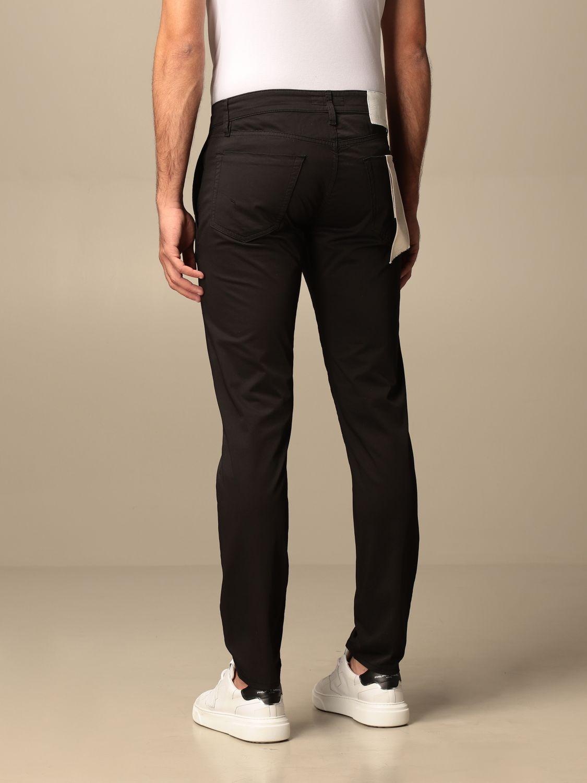 Pantalone Siviglia: Pantalone Chino Siviglia in cotone nero 2