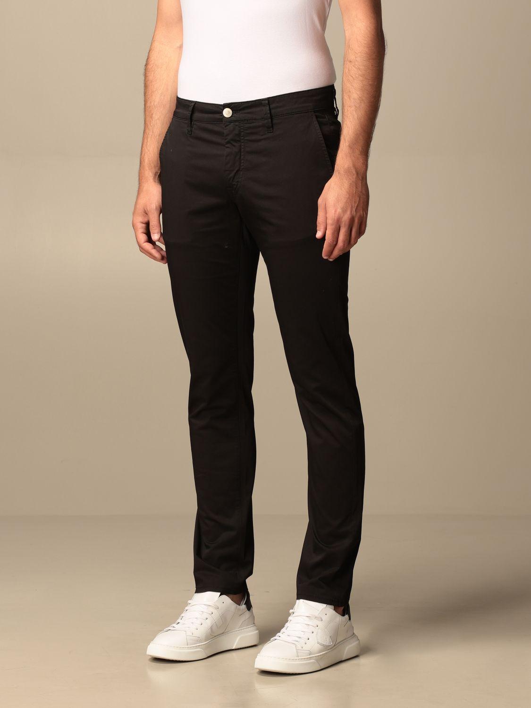 Pantalone Siviglia: Pantalone Chino Siviglia in cotone nero 3