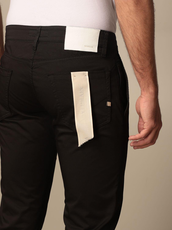 Pantalone Siviglia: Pantalone Chino Siviglia in cotone nero 4